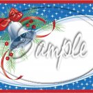 "Christmas Bell Personalize It! ~ Horizontal  ~ 6"" X 8"" Foil Pan Lid Cover"