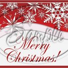 """Merry Christmas Red Snow Flurries   ~ Horizontal  ~ 6"""" X 8"""" Foil Pan Lid Cover"""