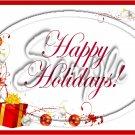 "Happy Holidays Christmas Presents & Ornaments ~ Horizontal  ~ 6"" X 8"" Foil Pan Lid Cover"