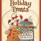 """Holiday Treats Cookies for the Oven ~ Christmas  ~ Vertical  ~ 6"""" X 8"""" Foil Pan Lid Cover"""