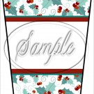 Personalize It! White ~ Aqua Holly ~ Christmas ~ Gift Card Holder Latte` Cup