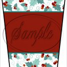 Personalize It! Red ~ Aqua Holly ~ Christmas ~ Gift Card Holder Latte` Cup