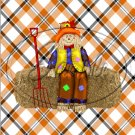 """Scarecrow Hay ~ Vertical   ~ 6"""" X 8"""" Foil Pan Lid Cover"""