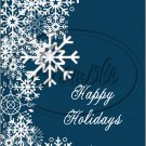 """Happy Holidays Dark Blue ~ Winter Snow Fall ~ Christmas ~ Vertical   ~ 6"""" X 8"""" Foil Pan Lid Cover"""