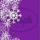 "Purple ~ Winter Snow Fall ~ Christmas ~ Vertical  ~ 6"" X 8"" Foil Pan Lid Cover"