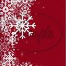 """Red~ Winter Snow Fall ~ Christmas ~ Vertical  ~ 6"""" X 8"""" Foil Pan Lid Cover"""