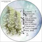 "Evergreen Christmas ~ 7"" Round Foil Pan Lid Cover"