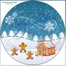 """Gingerbread Christmas ~ 7"""" Round Foil Pan Lid Cover"""