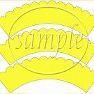 Candy Corn Bats #2 ~  Scalloped Cupcake Wrappers ~ Set of 1 Dozen