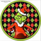 Faux Grinch ~ Cupcake Toppers ~ Set of 1 Dozen