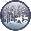 "Deer Silhouette Blank ~ 7"" Round Foil Pan Lid Cover"