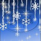 "Snow Flake Blue 8 ~ Christmas ~ Vertical  ~ 6"" X 8"" Foil Pan Lid Cover"