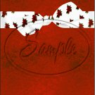"Christmas Bow Red 12 ~ Vertical  ~ 6"" X 8"" Foil Pan Lid Cover"