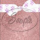 """Christmas Bow Mauve 15 ~ Vertical  ~ 6"""" X 8"""" Foil Pan Lid Cover"""