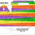 Fall Color Stripe  ~ MINI Gable Gift or Snack Box