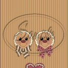 "Gingerbread Couple Faces Brown ~ Christmas ~ Vertical  ~ 6"" X 8"" Foil Pan Lid Cover"