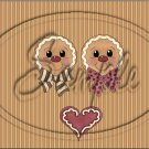 """Gingerbread Couple Face Brown ~ Christmas ~ Horizontal ~ 6"""" X 8"""" Foil Pan Lid Cover"""
