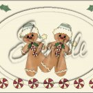 "Gingerbread Couple Cream ~ Christmas   ~ Horizontal  ~ 6"" X 8"" Foil Pan Lid Cover"