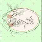 """Pine Cone Green Christmas  ~ Vertical  ~ 6"""" X 8"""" Foil Pan Lid Cover"""