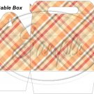 Red Brown Plaid Thanksgiving Fall  ~ MINI Gable Gift or Snack Box