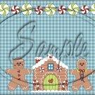"Jolly Gingerbread  ~ Christmas  ~ Horizontal  ~ 6"" X 8"" Foil Pan Lid Cover"