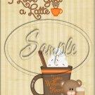 "Love you Latte` ~ Vertical  ~ 6"" X 8"" Foil Pan Lid Cover"