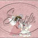 """Mouse Angels  ~ Christmas  ~ Horizontal  ~ 6"""" X 8"""" Foil Pan Lid Cover"""