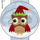 Owl Elf ~ Pencil, Straw or Candy Cane Sliders ~ Set of 12