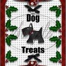 "Christmas Dog Treats  ~ Vertical  ~ 6"" X 8"" Foil Pan Lid Cover"