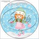 "Pastel Elf Caucasian Orange Hair ~ Christmas  ~ 7"" Round Foil Pan Lid Cover"