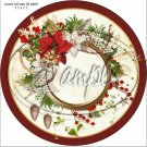 "Poinsettia Wreath Blank ~ Christmas   ~ 7"" Round Foil Pan Lid Cover"