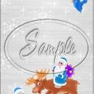 """Santa & Reindeer ~ Christmas   ~ Vertical  ~ 6"""" X 8"""" Foil Pan Lid Cover"""