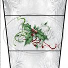 Silver Holly Berry  3 ~ Gift Card Holder Latte` Cup