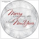 """Silver Holly Berry 1 ~ Christmas   ~ 7"""" Round Foil Pan Lid Cover"""