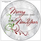 """Silver Holly Berry 2 ~ Christmas ~ 7"""" Round Foil Pan Lid Cover"""
