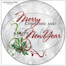 """Silver Holly Berry 3 ~ Christmas   ~ 7"""" Round Foil Pan Lid Cover"""
