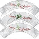 Silver Holly Berry 2 ~ Cupcake Wrappers ~ Set of 1 Dozen