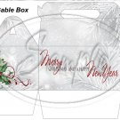 Silver Holly Berry 1 ~ Gable Gift or Snack Box