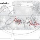 Silver Holly Berry 3 ~ Gable Gift or Snack Box