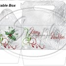 Silver Holly Berry 2  ~ MINI Gable Gift or Snack Box