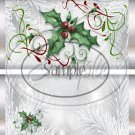 Silver Holly Berry 4 Silver Foil  ~ Standard 1.55 oz Candy Bar Wrapper  SOE
