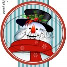 Snowman Stripes ~ Pencil, Straw or Candy Cane Sliders ~ Set of 12