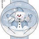 Snowman Blues ~ Pencil, Straw or Candy Cane Sliders ~ Set of 12