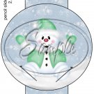 Snowman Green ~ Pencil, Straw or Candy Cane Sliders ~ Set of 12