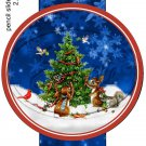 Woodland Christmas Dark Blue ~ Pencil, Straw or Candy Cane Sliders ~ Set of 12