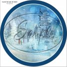 """Woodland Park We Wish You  ~ Christmas  ~ 7"""" Round Foil Pan Lid Cover"""
