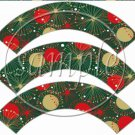 Christmas Exceitement  ~ Cupcake Wrappers ~ Set of 1 Dozen