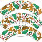 Ginger Christmas  ~ Cupcake Wrappers ~ Set of 1 Dozen