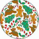 Ginger Christmas ~ Cupcake Toppers ~ Set of 1 Dozen