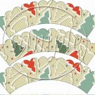 Christmas Tree Cookies  Scalloped ~ Cupcake Wrappers ~ Set of 1 Dozen